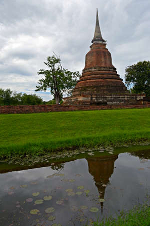Wat Mahathat in Sukhothai Historical Park, Central Thailand photo