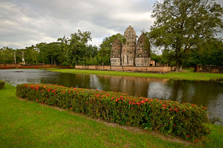 Wat Si Sawai in Sukhothai Historical Park, Central Thailand photo