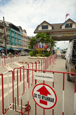 Border crossing in Mae Sod Thailand