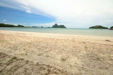 Low tide in the beautiful bay of Manao  Ao Manao  in Prachuap Khiri Khan, Southern Thailand  photo