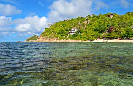 koh tao: The stunning beach of Sai Daeng Bay, south east of Koh Tao island, Southern Thailand