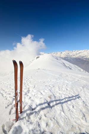 Back country ski in scenic alpine  photo
