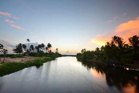 Wonderful sunset on Tangalla backwaters  Sri Lanka