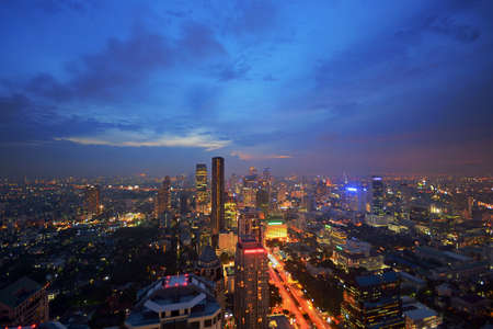 silom: Aerial view of the Bangkok