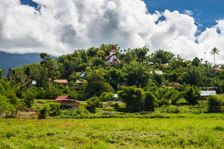 Beautiful hilltop village in Mamasa Valley, West Toraja, South Sulawesi, Indonesia. photo