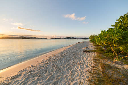 sulawesi: Sunrise in the remote Togean Islands, Central Sulawesi, Indonesia. Stock Photo