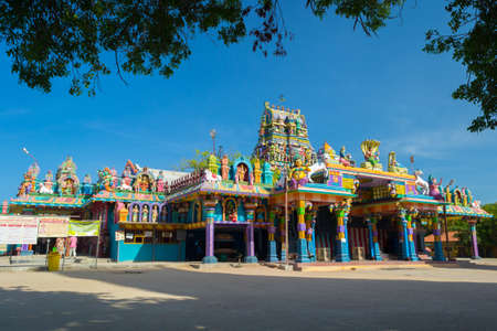 Eiland Nainativu, district Jaffna, Sri Lanka: hindoeïstische tempel van Naga Pooshani Amman