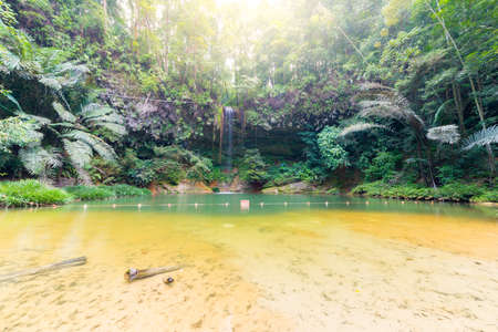 natural pool: natural pool hidden in the dense and umid rainforest of Lambir Hills National Park, Borneo, Malaysia Stock Photo