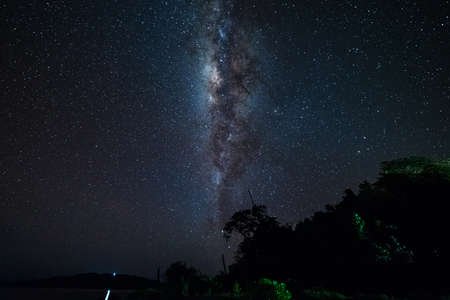 soul searching: The outstanding beauty and clarity of the Milky Way and the starry sky captured from near the equator line on the Togian (or Togean) Islands, Central Sulawesi, Indonesia