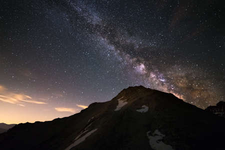 soul searching: The outstanding beauty and clarity of the Milky Way and the starry sky captured from high altitude on the italian Alps with a full frame camera at 3200 iso and f2.8.