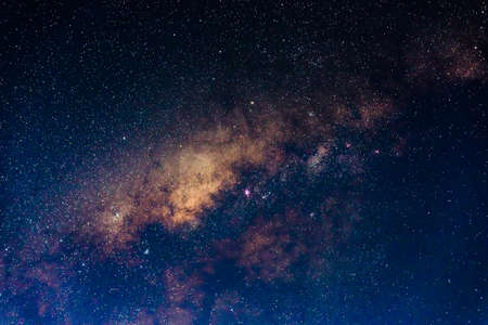 The outstanding beauty and clarity of the Milky Way, with its colorful close up of the core. Long exposure captured at 4000 m from Amantani 'Island, Lake Titicaca, Peru. 스톡 콘텐츠