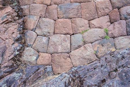 volcanic stones: Inca wall made of volcanic stones