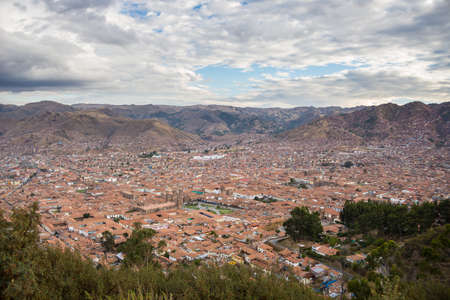 expansive: Expansive cityscape of Cusco town with scenic cloudscape. Cusco is among the most important travel destination in Peru and the entire South America.