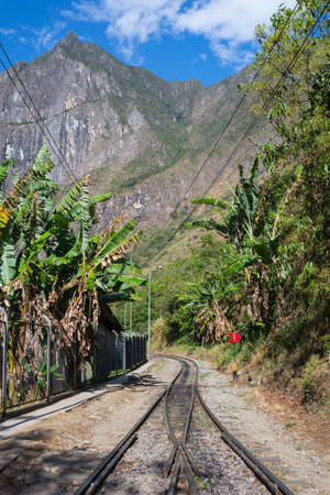 hydroelectric station: The railroad track crossing jungle and Urubamba river, connecting Machu Picchu village to hydroelectric station, mostly used for tourism and cargo purpose.