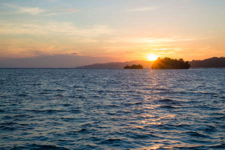 Togean Islands Sunrise, Togian Islands, travel destination in Sulawesi, Indonesia.