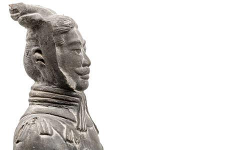 Officier Xian isolé sur fond blanc