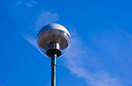 Lamppost in the blue sky background
