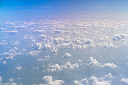 Aerial view of a patchy cloud formation over Bulgaria.