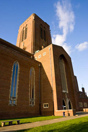 struggled: Guildford is the only cathedral to be built on a new site in southern England since the Reformation. It struggled into being through the depression of the 1930s, the Second World War and the austerity of the 1950s before finally being consecrated in 1961.