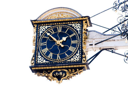 Guildford Clock Isolated on White