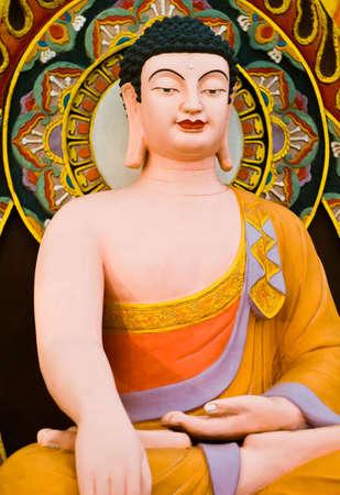 Statue de Bouddha � la balle de baignade du Bouddha c�r�monie. Focus sur le visage. Banque d'images
