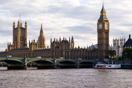 London Skyline  showing Big Ben and Westminster Stock Photo