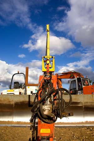 Close up of a bulldozer at work