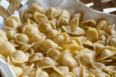 Home made fresh italian pasta. Stock Photo