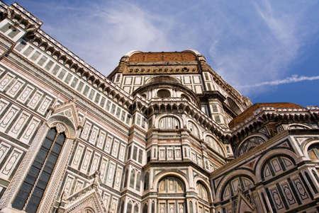 Duomo di Firenze against the blue sky.