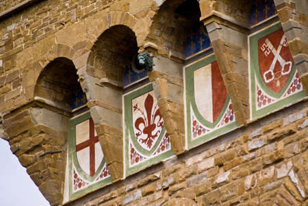 Close up of Palazzo Vecchio in Florence