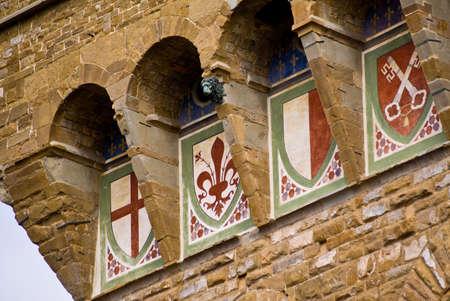 Gros plan du Palazzo Vecchio � Florence
