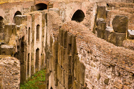 Close-up of the Colosseum in Rome Stock Photo
