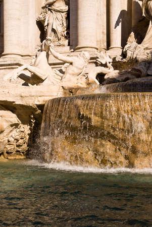 La Fontaine de Trevi � Rome Banque d'images