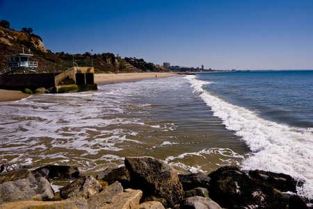 Santa Monica Beach, Californie, �tats-Unis.  Banque d'images