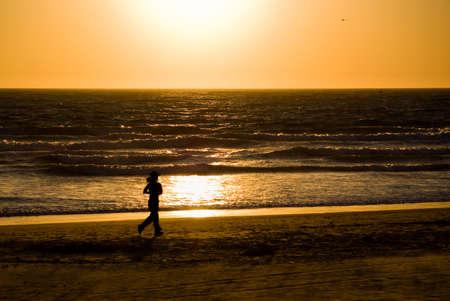 Coucher de soleil � Venice Beach, Californie, �tats-Unis