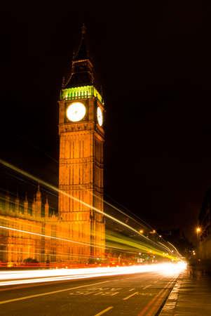 Big Ben at night, London, UK. Stock Photo
