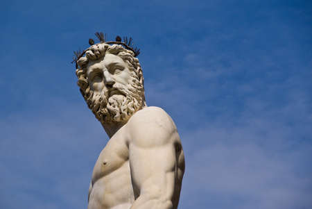 Statue located in the open air gallery in Florence, Italy. Stock Photo