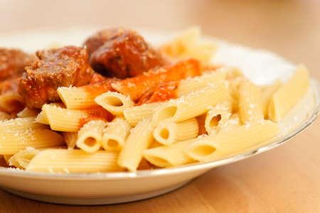 Penne al Sugo. Italian food.