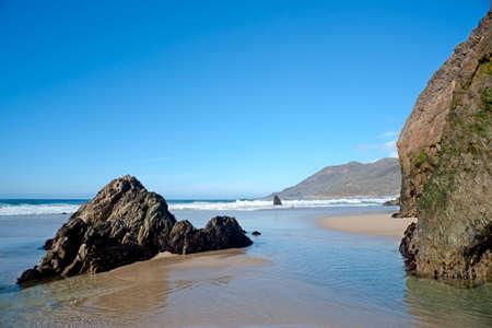 Beach in the Big Sur, California  Day light