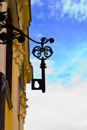 Wrought iron signboard photo