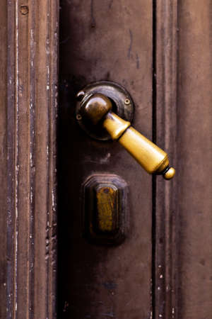 Brass door handle photo