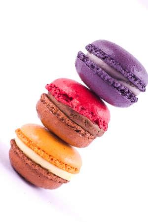 diagonally: Macarons diagonally Stock Photo