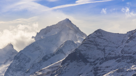 blanche: The Dent Blanche, culminating at 4357 meters, Valais, Switzerland Stock Photo