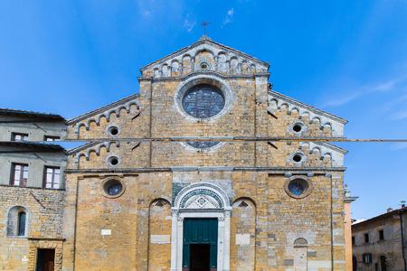 The cathedral of Santa Maria Assunta in Volterra, Tuscany, Italy.
