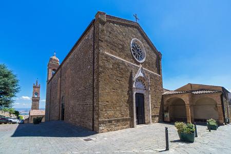The church of saint Agostino in Montalcino, Tuscany, Italy. Stock Photo