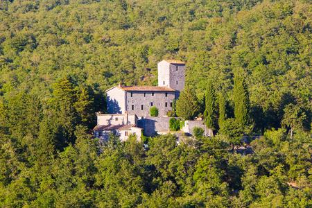 Siena province, Italy - August 6, 2016: The Castello di Albola in the Chianti region. Editorial