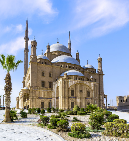 The Mohamed Ali mosque, located in the Saladin Citadel, on the Mokkatam hill in Cairo. Stock Photo - 74188764