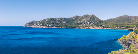 Panoramic view of the surroundings of Canyamel on the balearic island of Mallorca.