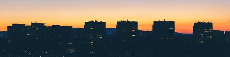 Sunset over Krakows suburbs Stock Photo