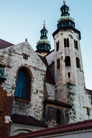 The church of St. Andrew, located in the old town of Krakow.